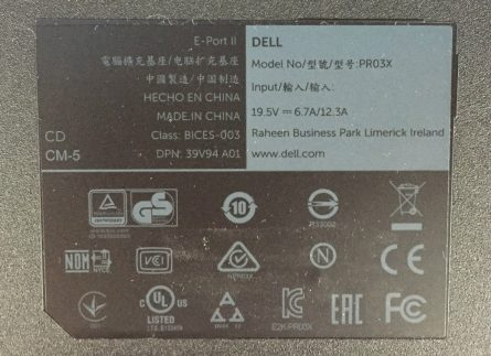 Dell Pro3X USB 3.0 Laptop Docking Station Port Replicator3