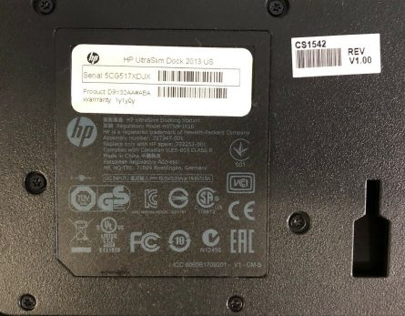 HP UltraSlim Dock 20132