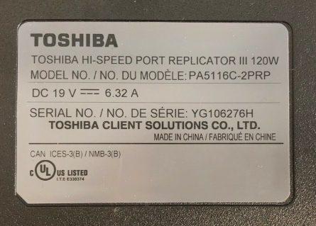 Toshiba Docking 1