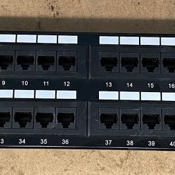 48-Port Cat5e Patch Panel Rack Mountable Ethernet Network